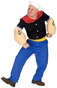 Unbekannt Original Popeye der Seemann Kostüm - 5teilig (XL-XXL)
