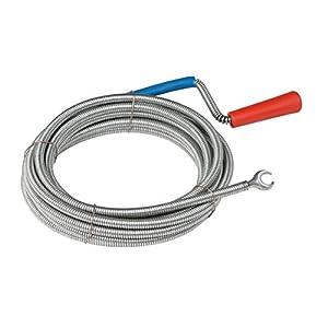 Meister Rohrreinigungswelle Ø 6 mm x 3 m - Flexible Spirale mit Kralle - Umweltfreundliche Lösung für hartnäckige Verstopfungen/Abflussspirale/Rohr-Reinigungssspirale/Abflussreiniger / 9405300