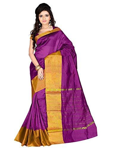 Roopkala Silks & Sarees Women's Poly Cotton Saree (SH-1314_Magenta)