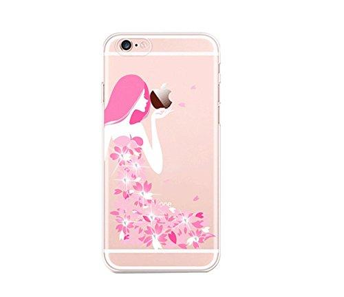 Yooky iphone 7 7S 4,7 Zoll Silikon Hülle Case Cover , Transparente weiche TPU klar kratzfest Schutzhülle Hülle Tasche Kasten Auto für Apple Iphone 7 Style 2