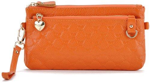 Mefly Moda In Pelle Borsa A Mano Croce Obliqua Bag Nuovo Signore Di Colore Giallo Brillante orange