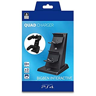 PS4 - Ladestation Quad Charger (inkl. Netzteil)
