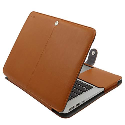 MOSISO Hülle Kompatibel MacBook Air 13 Zoll, Premium Qualität PU Leder Schlanke Schutzhülle Tasche Cover Kompatibel MacBook Air 13 Zoll (A1369 / A1466), Hellbraun 13 Premium-leder