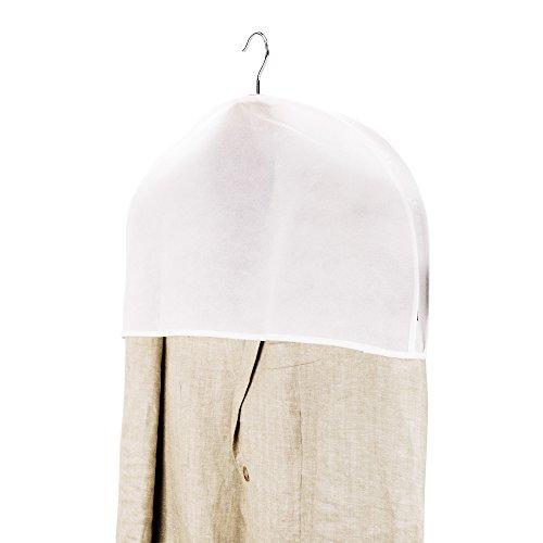 20 Atmungsaktive Schulterabdeckungen mit breiter Seitenfalte - Weiß - Hangerworld (Kurze Weiß Zwickel)