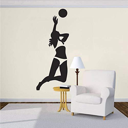 huge selection of d9776 d0e4e Waofe Volleyball Ball Player Wall Stickers Home Decor Soggiorno Rimovibile  In Vinile Adesivo Sport Game Girl