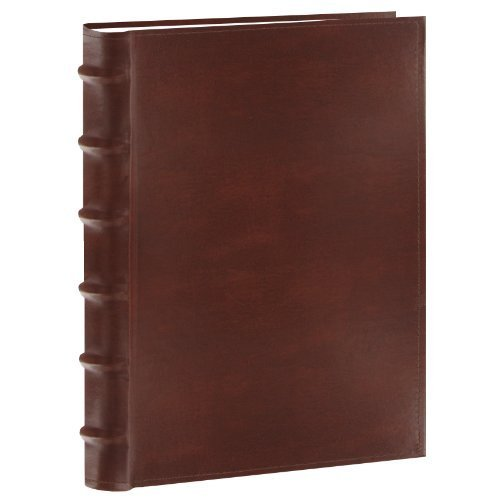 Pioneer Photo Albums 200-Pocket European Bonded Leather Photo Album for 5 by 7-Inch Prints, Brown by Pioneer Photo Albums