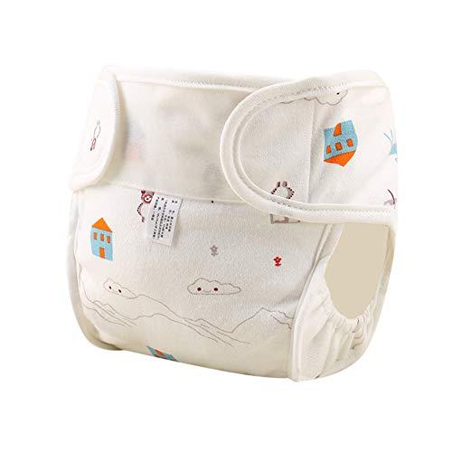 KEKEDA Windelhöschen, wasserdicht, Baumwolle, waschbar, auslaufsicher, für Neugeborene, atmungsaktiv, 04, 90 Yards