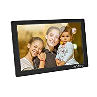 ‏‪Andoer 12.1 Inch Digital Photo Frame LED Screen Eletronic Picture Album High Resolution 1280 * 800(16:9) Clock Calendar 1080P HD Video Player with Remote Control Black UK Plug‬‏