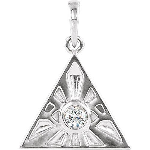Halskette mit Anhänger Auge der Vorsehung Sterling-Silber 925 1/10 Karat Diamant