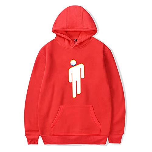 Bellyache Klassischer Stil Kapuzenpulli Personalisierte Mode Unisex Pullover Lässige Hip Hop Kleidung für Junge und Mädchen-04-Red-S ()