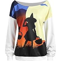 JYC-Sudaderas Mujer,De Las Mujeres Halloween Diablo Impresión Largo Mangá Tops Blusa Camisa