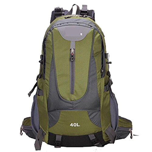 Outdoor 40L Large Capacity Mountaineering Reise Wasserdichte Rucksack,Black ArmyGreen