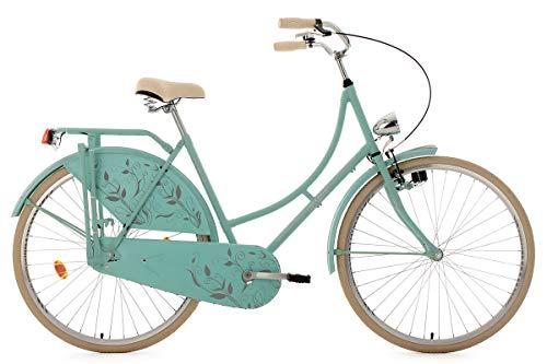 KS Cycling Damen Fahrrad Hollandrad Tussaud singlespeed RH 54 cm, mint matt, 28 Zoll, 336H