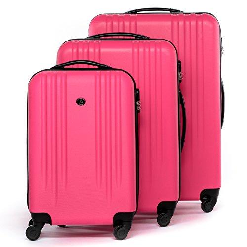 FERGÉ Dreier Kofferset Marseille Trolley-Koffer neu Reisekoffer leicht | Set 3-teilig Hartschalenkoffer mit 4 Komfortrollen (360°) |...