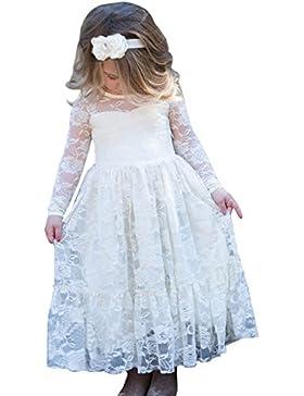 Babyonline Prinzessin Kleid mädchen Spitze Mädchen Kleider Festlich Kleider Kinder Blumenmädchen