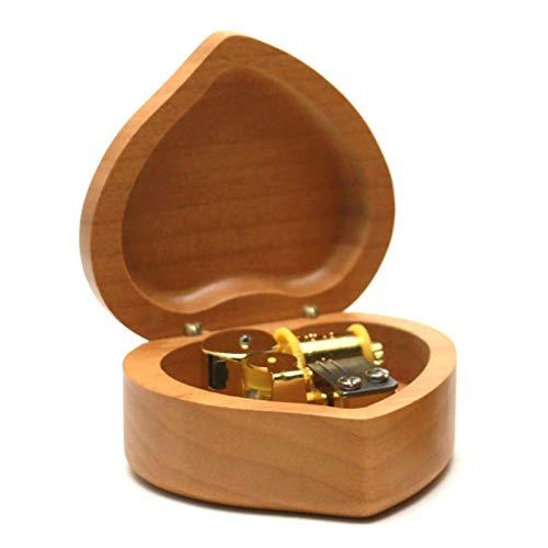 REFURBISHHOUSE Handgefertigte Aus Holz Liebe Musik Box Geburtstags Geschenk für Weihnachten/Geburtstag Herz Natürlich Vertraglich -