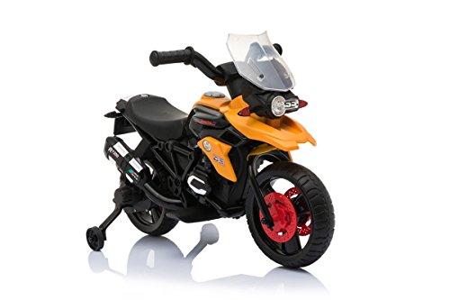 Toyscar Moto Elettrica Enduro Per Bambini con Luci e Suoni rotelle 6V Arancione