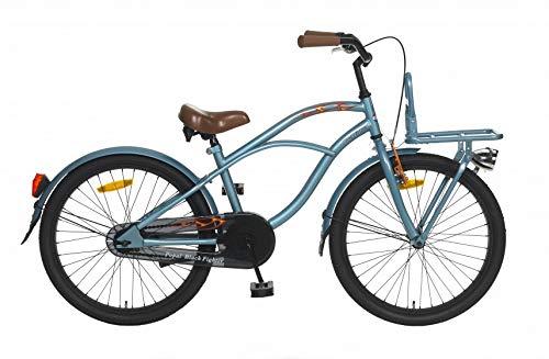 22 Zoll Popal Black Fighter Jungen Cruiser Fahrrad, Farbe:blau