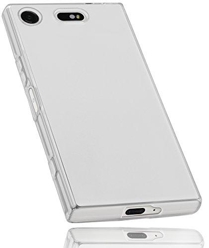 mumbi Schutzhülle für Sony Xperia XZ1 Compact Hülle transparent weiß