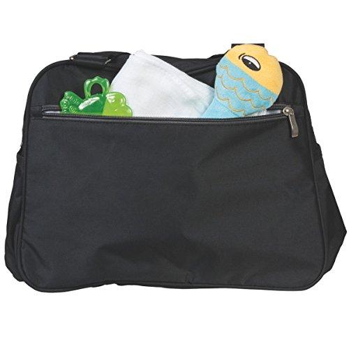 Wickeltasche LAURA Schultertasche Tragetasche Pflegetasche + Wickelauflage Baby Tasche in 6 verschiedenen Farben (Ockergelb) Flieder
