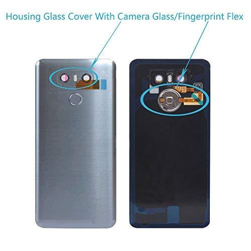 LG G6Gehäuse Kamera Glas Cover Button Lautsprecher Flex Teile, Full Housing Cover Assembly[LG G6 (Silver)] Kamera Cover Assembly
