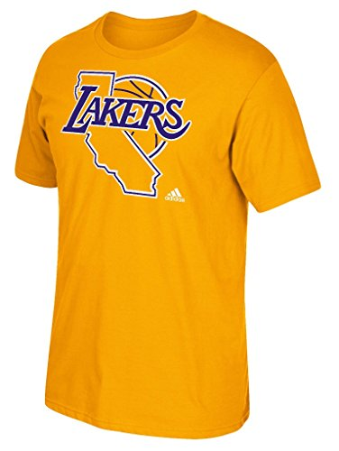 Los Angeles Lakers Adidas NBA Hardwood Classic 'Jersey Maillot Hook' Men's S/S T-Shirt Chemise