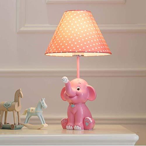 Lámpara de mesa de elefante for habitación infantil Iluminación decorativa de dibujos animados moderna Lámpara de mesita de noche for niños y niñas