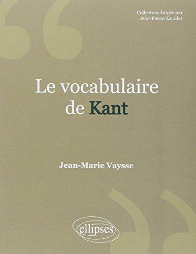 Le vocabulaire de Kant