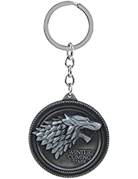 Shining Jewel Game Of Thrones Stark House Dire Wolf Silver Keyrings & Keychains