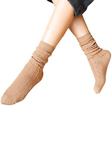 Zando da donna morbido cotone comfort Colorful fresco e asciutto Classic Athletic Calze Khaki Taglia unica