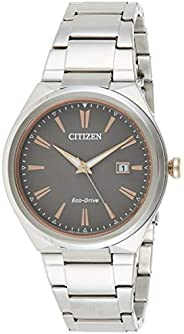 Citizen Eco-Drive Men's Grey Dial Stainless Steel Watch  - AW1376