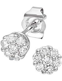 Naava Women's 0.50 ct Single-Stone J-I2 Diamond Earrings on 9 ct White Gold-0.25 ct each earring 0OZgyxapzu