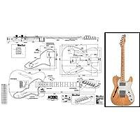 Plan of Fender Telecaster Thinline Guitare électrique Imprimé à grande échelle