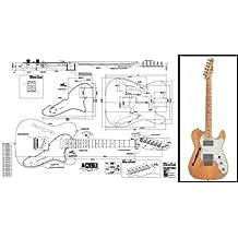 Plan de Fender Telecaster de guitarra eléctrica – escala completa impresión