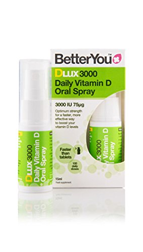 BetterYou D Lux 3000 Oral Vit D3 Spray - 15ml (Pack of 6)