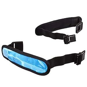 Lilware Dare to Be Visible Armband Regolabile Riflettente Bracciale / Wristband / Braccialetto con Flessibile LED Lampeggiante. Colore Blu