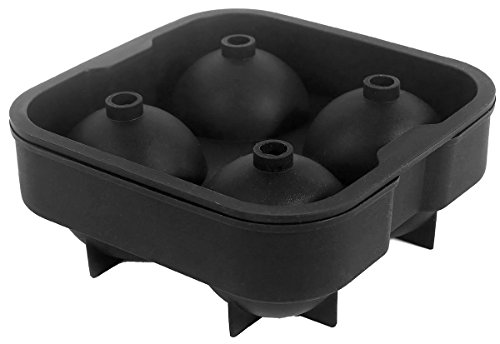 KAIKSO-IN Silicon Whiskey-Eis-Würfel-Kugel-Hersteller-Form-Sphere Mould Brick-Party Tray Round Bar (Mode Apple Bottoms)
