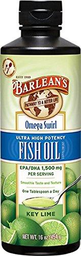 Barlean's - Omega Swirl Omega-3 Huile de Poisson Key Lime 473 ml