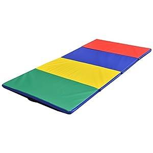 Enjoy.Fit Turnmatte Weichbodenmatte Gymnastikmatte 4-fach klappbar 240x120x5cm