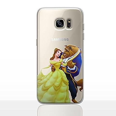 Prinzessin Telefon Hülle/Case für Samsung Galaxy S7 Edge (G935) mit Displayschutzfolie / Silikon Weiches Gel/TPU / iCHOOSE / Die Schöne und das Biest