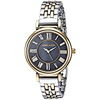Anne Klein Womens Quartz Watch, Analog Display and Stainless Steel Strap AK2159NVTT