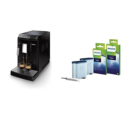Philips EP3510/00 Kaffeevollautomat, Milchschaumdüse, AquaClean, schwarz, mit Rundum-Pflegeset