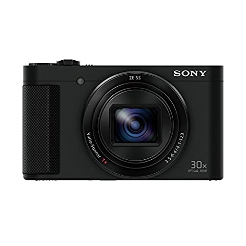 Sony DSCHX90 Digital Compact High Zoom Travel Camera with 180 Degrees Tiltable LCD Screen and View Finder (18.2 MP, 30 x Optical Zoom, Wi-Fi, NFC) -