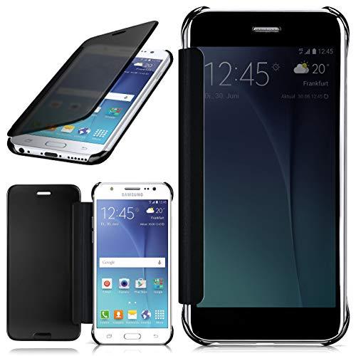 moex Samsung Galaxy J5 (2015) | Hülle Transparent TPU Void Cover Dünne Schutzhülle Anthrazit Handyhülle für Samsung Galaxy J5 2015 Case Ultra-Slim Handy-Tasche mit Sicht-Fenster