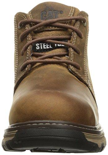 Caterpillar Mens Parker ESD Steel Toe Industrial and Construction Shoe Dark Beige