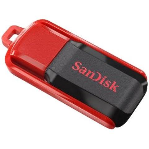 SanDisk SDCZ52-032G-B35 - Memoria USB 2.0 de 32 GB, color negro y rojo