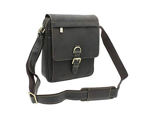 Visconti Leder Messenger Tasche 16011 Schlamm -