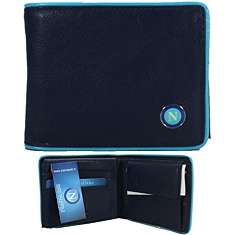 SSC Napoli Cartera para Hombre con bolsillos para tarjeta Billetero 100% Original