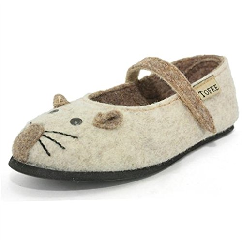 tofee - chaussons fille souris en laine bouillie b filles tofee h71tof001