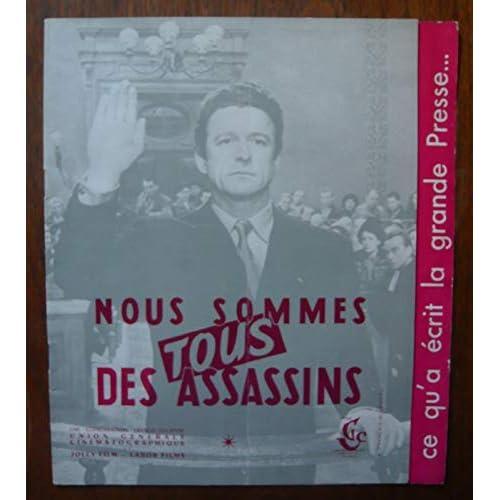 Plaquette de presse de Nous sommes tous des assassins (1952) – 24x27 cm, 16 P - Film de André Cayatte avec Mouloudji, R Pellegrin– Photo de couv. N&B – Bon état.